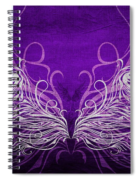 Angel Wings Royal Spiral Notebook