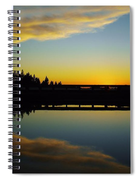 Angel Wings Sunset Spiral Notebook