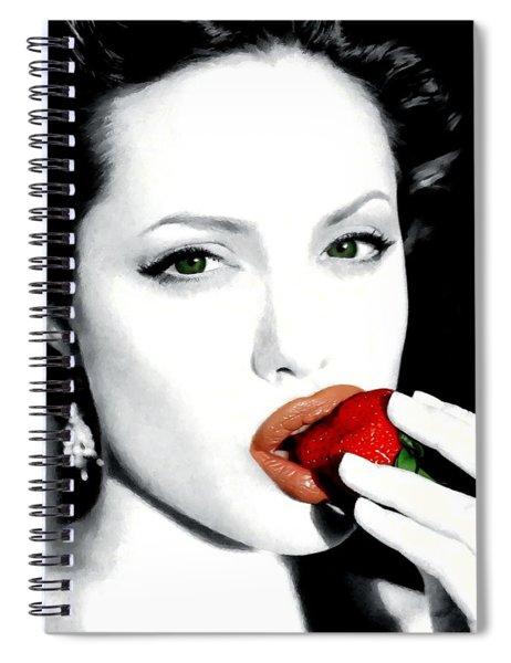 Angelina Jolie Spiral Notebook