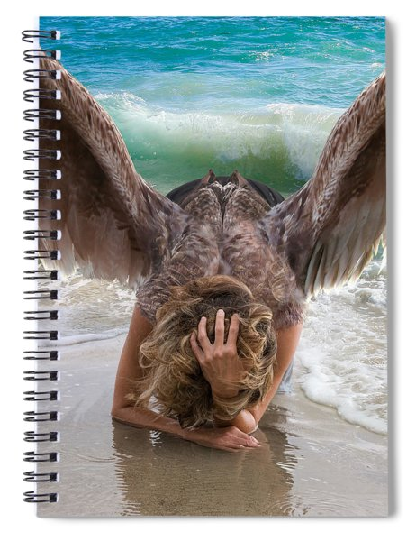 Angels- Be A Light To Those In Darkness Spiral Notebook