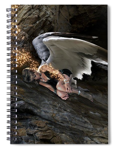 Angels- He Will Bring Peace To Your Heart Spiral Notebook