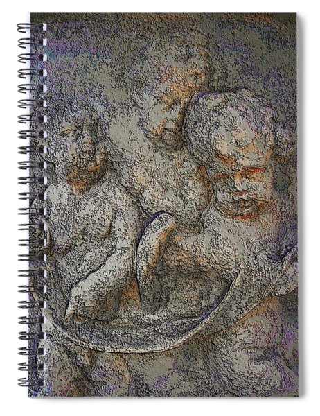 Angels Long To See Spiral Notebook
