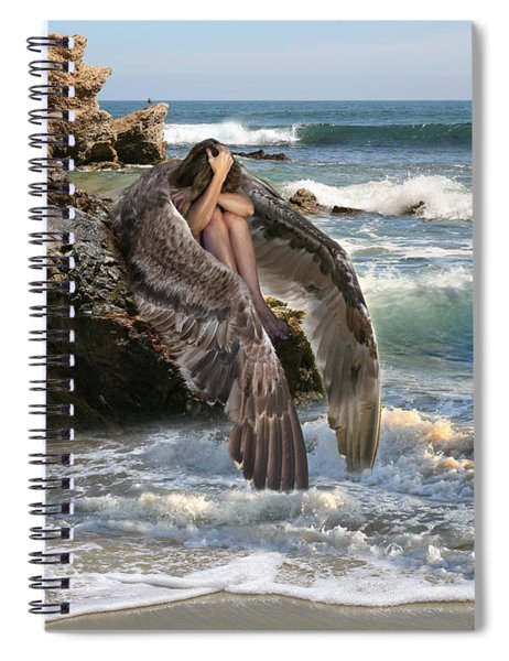 Angels- Shhh Stand Still And Be Quiet Spiral Notebook