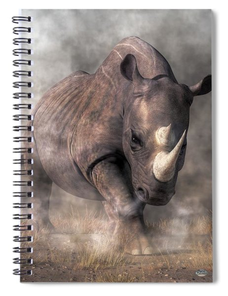 Angry Rhino Spiral Notebook