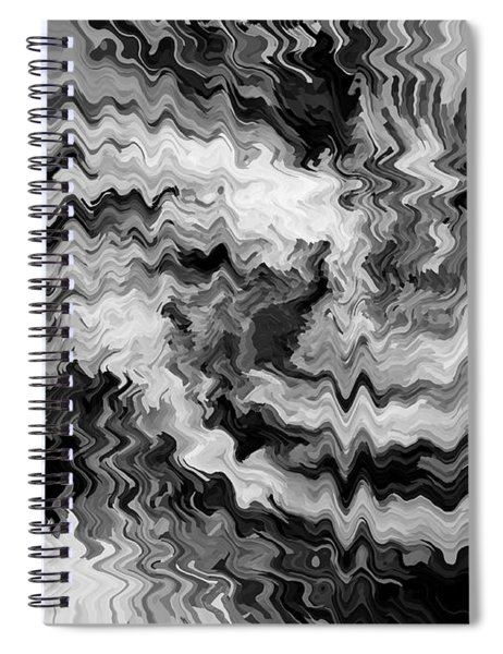 Anguish  In  Black  And  White Spiral Notebook