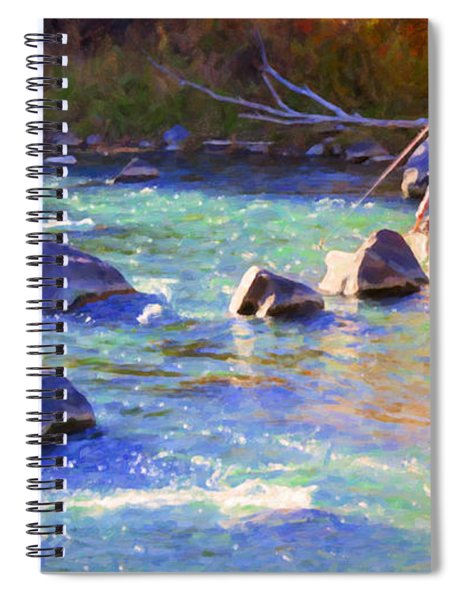 Animas River Fly Fishing Spiral Notebook