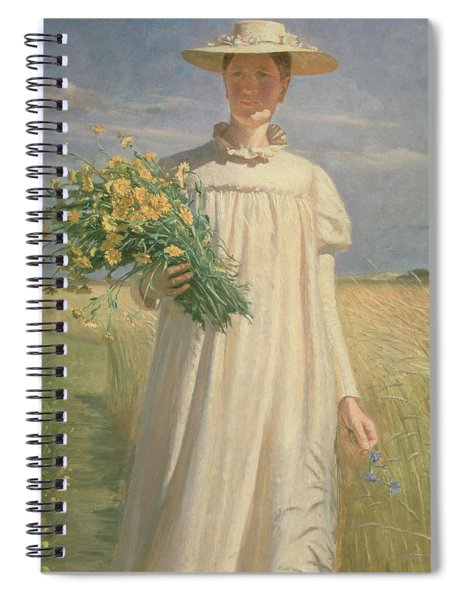 Anna Ancher Returning From Flower Picking, 1902 Spiral Notebook