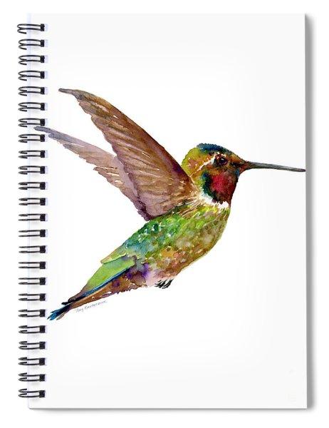 Anna Hummingbird Spiral Notebook by Amy Kirkpatrick