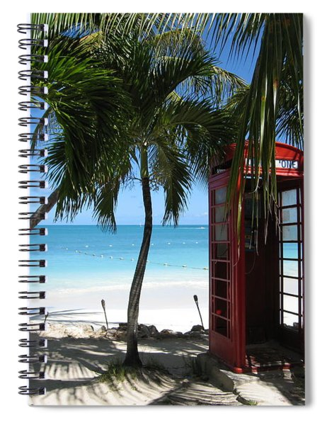 Antigua - Phone Booth Spiral Notebook
