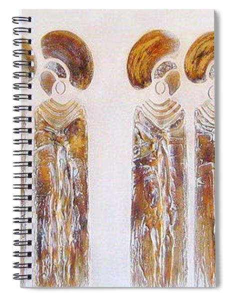 Antique Copper Zulu Ladies - Original Artwork Spiral Notebook