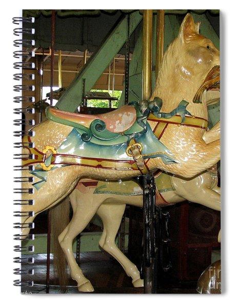 Antique Dentzel Menagerie Carousel Cat Spiral Notebook