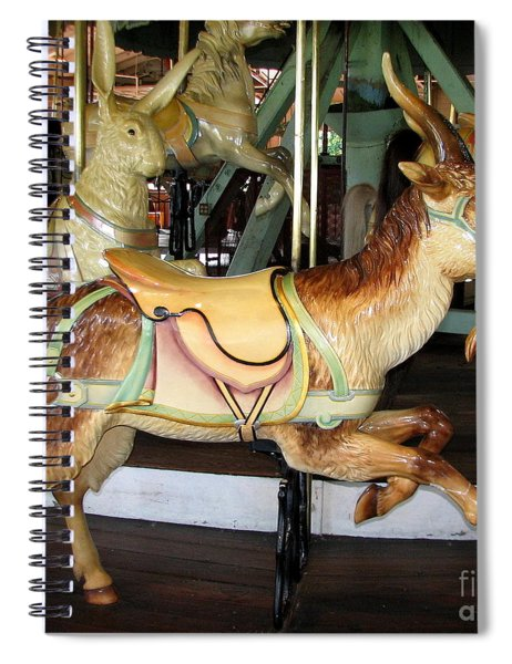 Antique Dentzel Menagerie Carousel Goat Spiral Notebook