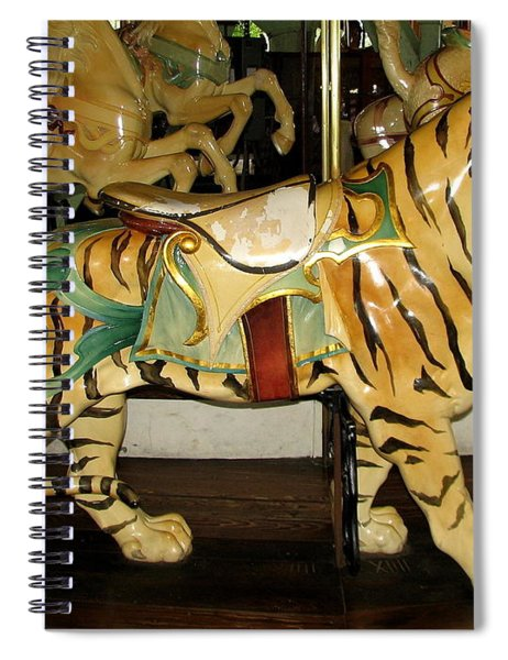 Antique Dentzel Menagerie Carousel Tiger Spiral Notebook