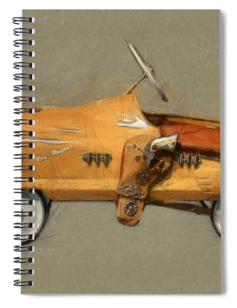 Antique Pedal Car L Spiral Notebook by Michelle Calkins