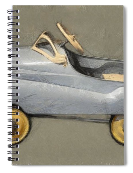Antique Pedal Car Ll Spiral Notebook by Michelle Calkins