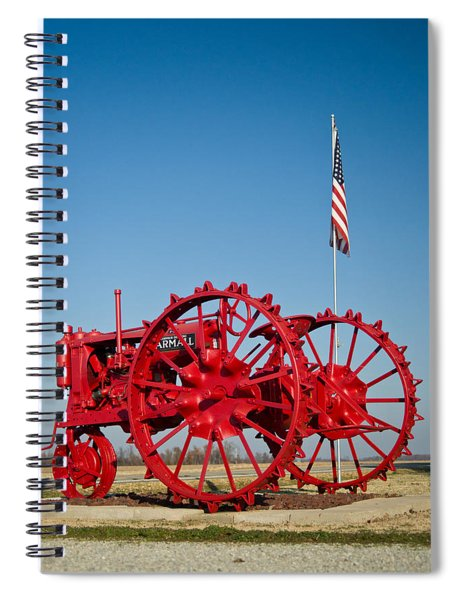 Antique Red Tractor 2 Spiral Notebook