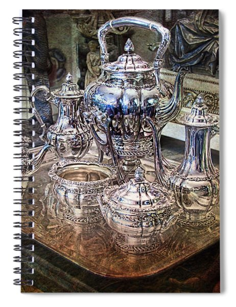 Antique Tiffany Sterling Silver Coffee Tea Set Spiral Notebook