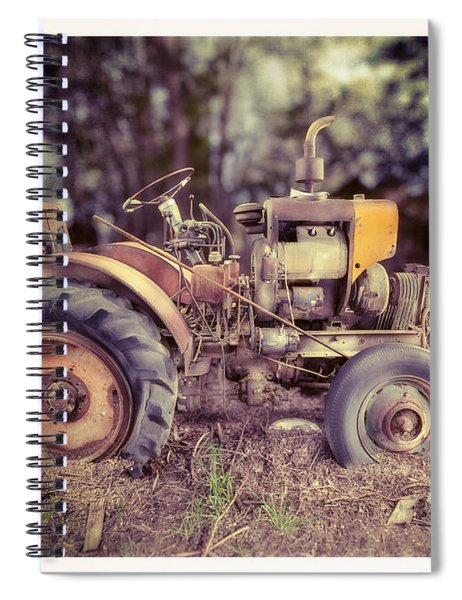 Antique Tractor Home Built Spiral Notebook
