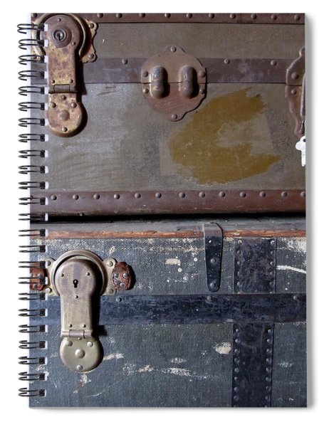 Antique Trunks 5 Spiral Notebook