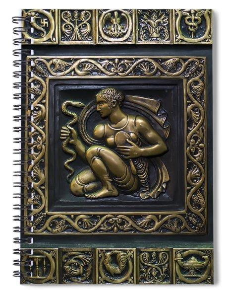 Aphrodite Bronze Plate Spiral Notebook