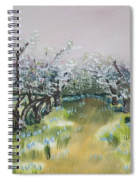 Apple Blossoms In Ellijay -apple Trees - Blooming Spiral Notebook