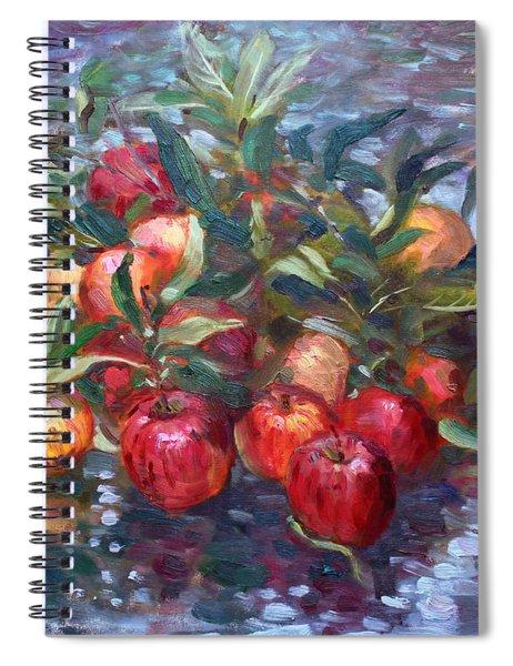 Apple Harvest At Violas Garden Spiral Notebook