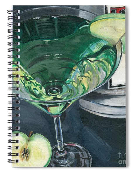 Apple Martini Spiral Notebook