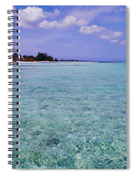 Aqua Blue Spiral Notebook