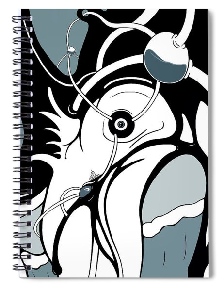 Aqua Grid Spiral Notebook