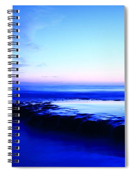 Swamis Beach Sunset Spiral Notebook