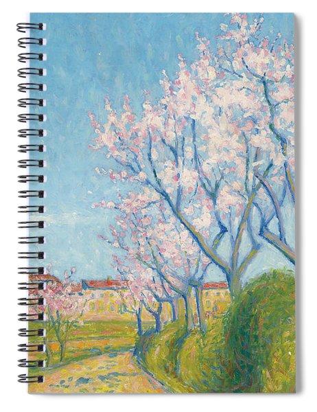 Arbes En Fleurs A L'entree De Cailhavel Spiral Notebook