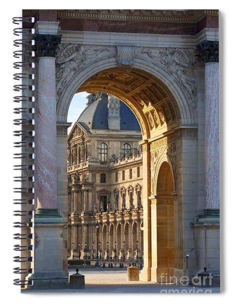 Spiral Notebook featuring the photograph Arc De Triomphe Du Carrousel by Brian Jannsen