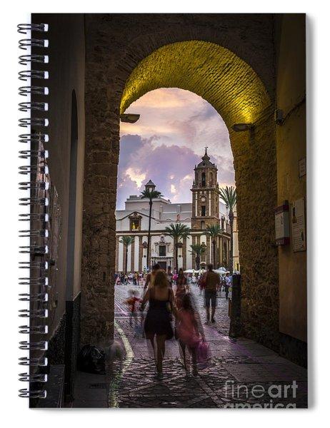 Arc Of The Rose Cadiz Spain Spiral Notebook