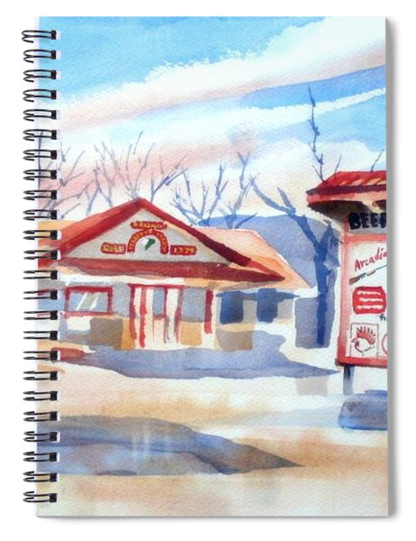 Arcadia Sporting Goods In Winter Blue Spiral Notebook