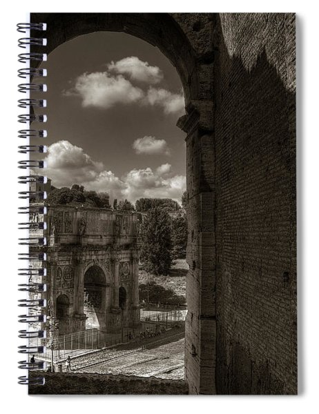 Arch Of Constantine From The Colosseum Spiral Notebook