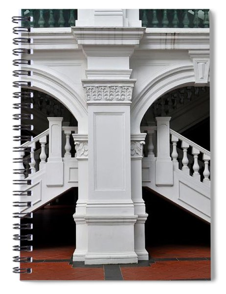 Arch Staircase Balustrade And Columns Spiral Notebook