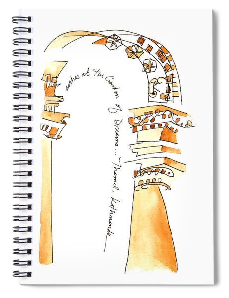 Arches In The Garden Of Dreams Spiral Notebook