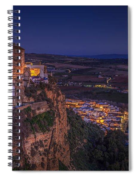 Arcos De La Frontera Panorama From Balcon De La Pena Cadiz Spain Spiral Notebook