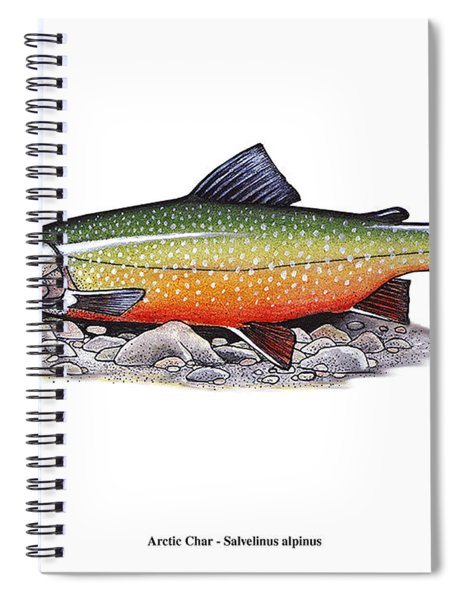 Arctic Char Male Spiral Notebook