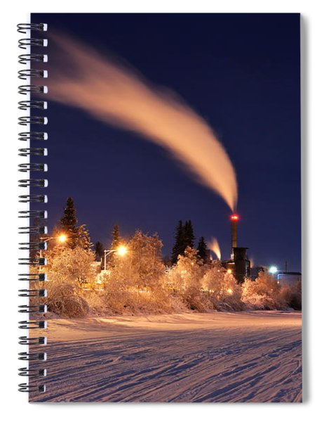 Arctic Power At Night Spiral Notebook