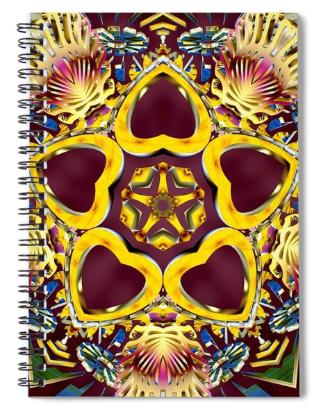 Spiral Notebook featuring the digital art Arcturian Starseed by Derek Gedney