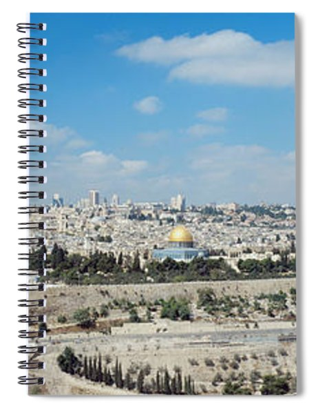 Ariel View Of The Western Wall Spiral Notebook