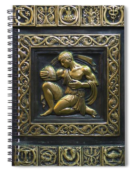 Aristaeus Bronze Plate Spiral Notebook
