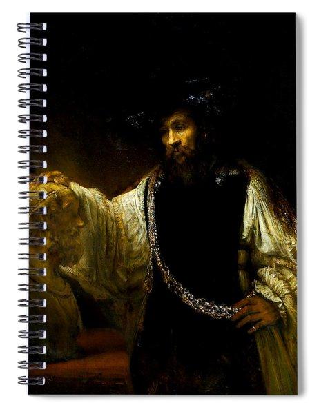 Aristotle Contemplating A Bust Of Homer Spiral Notebook