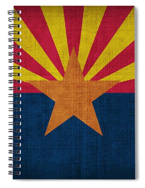 Arizona State Flag Spiral Notebook by Pixel Chimp