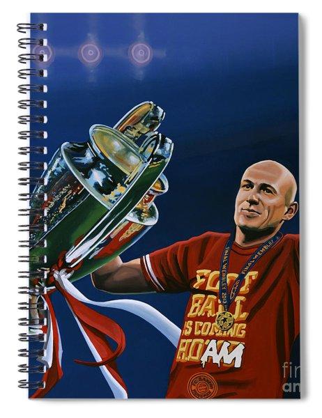 Arjen Robben Spiral Notebook by Paul Meijering