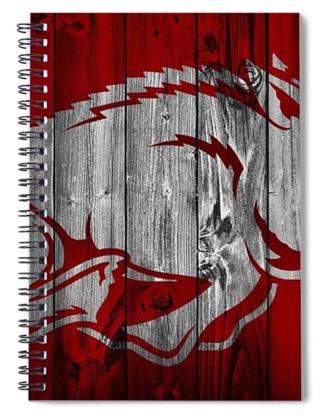 Arkansas Razorbacks Barn Door Spiral Notebook