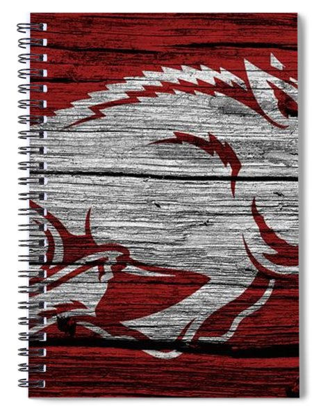 Arkansas Razorbacks On Wood Spiral Notebook