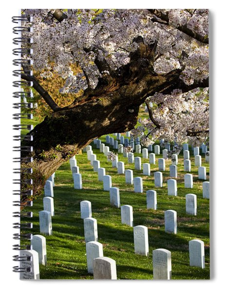 Spiral Notebook featuring the photograph Arlington National Cemetary by Brian Jannsen