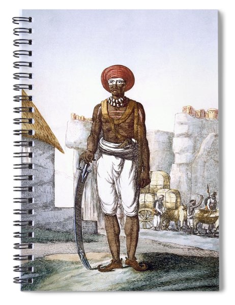 Armed Guard Of The Brijbasis Tribe Spiral Notebook